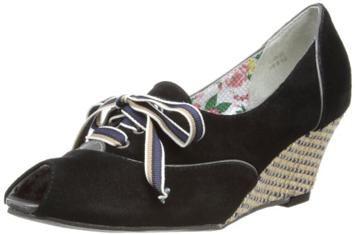 Poetic Licence Womens Cream of the Crop Peep-Toe 4173-02 Black 7.5 UK, 41 EU