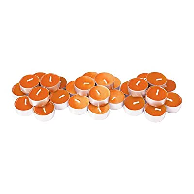 IKEA SINNLIG Scented tealight, Tangerine Sunshine, Orange candles 30pack