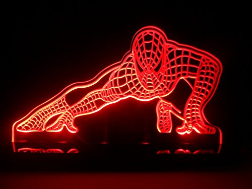 Spiderman Super Hero Led Table Lamp Night Light Kids Room Game Room front-726579