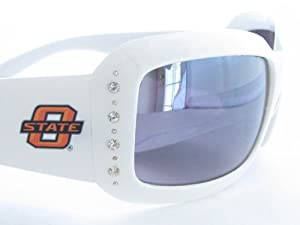 Oklahoma State Cowboys OSU White Fashion Crystal Sunglasses S4WH by Sports Accessory Store