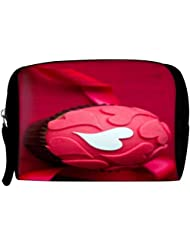 Snoogg Pink Cup Cake Travel Buddy Toiletry Bag / Bag Organizer / Vanity Pouch Fashion Puch Make Up Bag