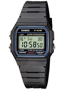 Casio -F-91W-1YER - Montre Homme- Quartz digitale - Chronographe - Bracelet Plastique noir de Casio