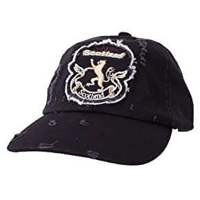 Mens Scotland Lion Distressed Design Cap