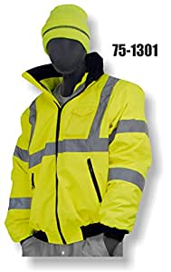 Majestic CLASS 3 HIGH VISIBILITY LINED BOMBER JACKET - 2X LARGE TALL, ORANGE(75-1302/T2)