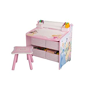 Disney Princess Art Table With Paper Roll Wipe Board And Storage from Delta Enterprise