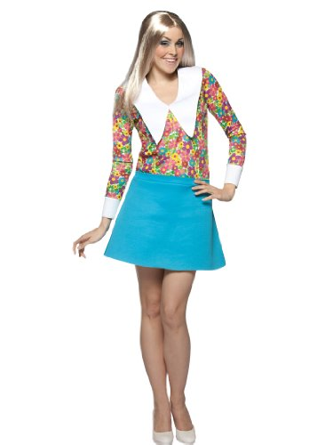Marcia Brady Bunch Dress Sexy Floral Print Mini Womens Theatrical Costume