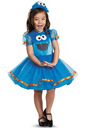 Mememall Fashion Sesame Street Cookie Monster Tutu Deluxe Toddler Costume ()