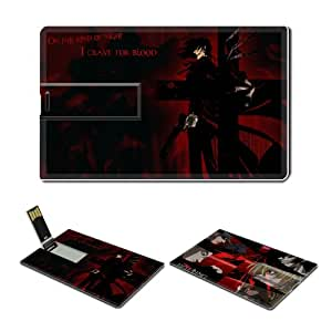 8GB USB Flash Drive USB 2.0 Memory Credit Card Size Anime Hellsing Comic Game Customized Support Services Ready Alucard-015