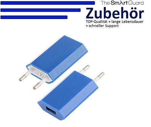 Original THESMARTGUARD® Samsung Galaxy S5 Netzteil Adapter Ladegerät in blau - NEU mit überarbeiteter Ladegeschwindigkeit von bis zu 2.1A!