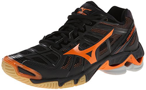 Mizuno Women'S Wave Lightning Rx2 Volleyball Shoe,Black/Orange,12 B Us