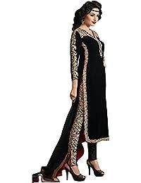 Ap Enterprises Black Velvet Embroidred Salwar Suit For Women & Girls Party Wear Stitched For Girls For Specail...