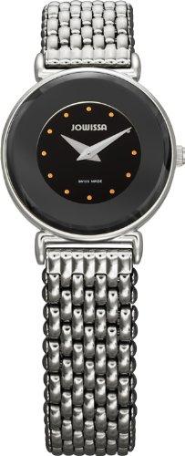 Jowissa Women's J3.008.S Elegance 24 mm Black Dial Stainless Steel Watch