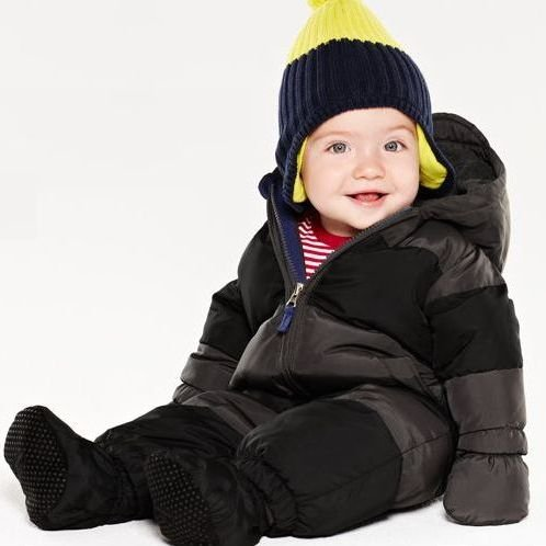 GAP (ギャップ) ダウン カバーオール ミトン&ソックス付き(ダークブラウン×オーリブ)【月齢:6ヶ月-1歳】(並行輸入品) (6-12M(6ヶ月-1歳), ダークブラウン×オリーブ)