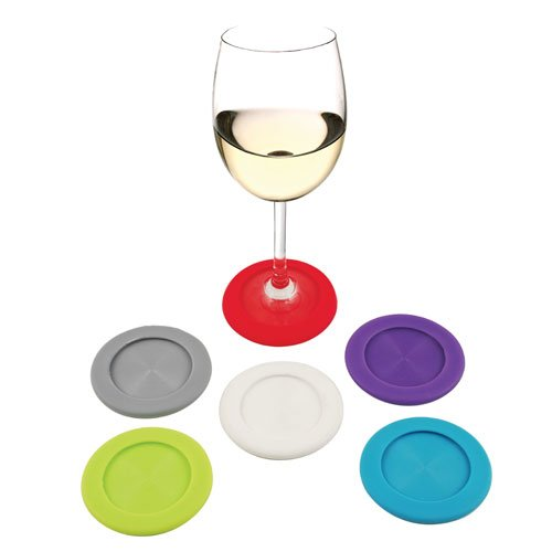 Investment True Fabrications Grab & Go Slip On Wine Coasters, Set Of 6 opportunity