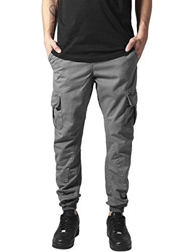 Urban Classics - Cargo Jogging Pants, pantaloni Uomo, Grau (darkgrey 94), W34 (Taglia produttore: L)
