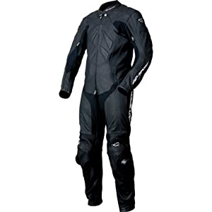AGV Sport Valencia Men's 1-Piece Leather Sports Bike Motorcycle Race Suit - Black / 42
