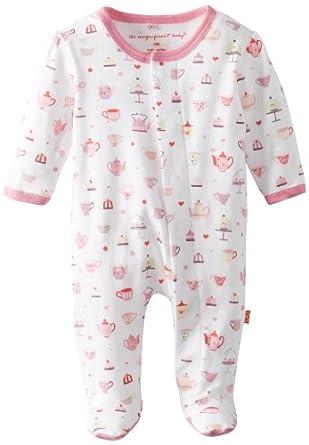 Magnificent Baby Baby-Girls Newborn Footie, Tea Cups, New Born
