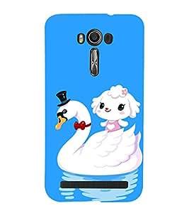 printtech Cute Duck Water Girl Back Case Cover for Asus Zenfone Go::Asus Zenfone Go ZC500TG