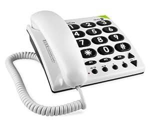 Doro Phone Easy 311c téléphone fixe filaire Blanc (compatible prises allemandes)