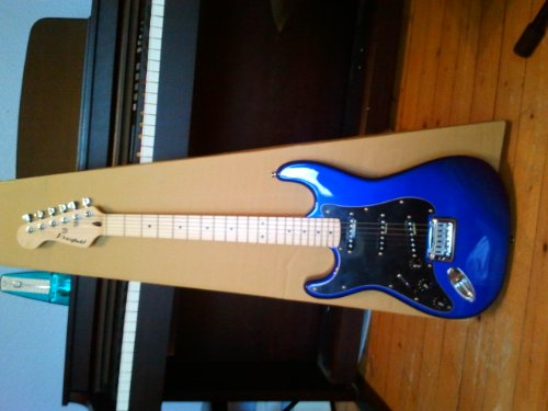 Westfield E1000 Left Handed Solid Body Electric Guitar (Metallic Dark Blue)