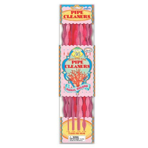 36 Pipes Per Pack - eeBoo Pipe Cleaners colors -Coral