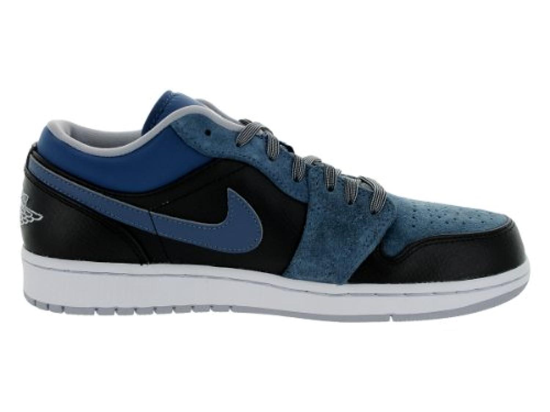huge discount ab5ed 19270 ... Nike Jordan Men s Air Jordan 1 Low Black Wolf Grey New Slate Basketball  Shoe ...