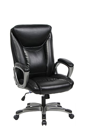 VIVA OFFICE High Back Bonded Leather Office Chair with Padded Headrest and Armrests (Office Chair Padding compare prices)
