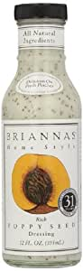 Brianna's Rich Poppy Seed Dressing 355 ml (Pack of 3)