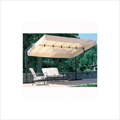 T - Series 8' x 12' Freestanding Awning T15/GIB or DMT Base: Deckmount Plate, Fabric: Antique Beige