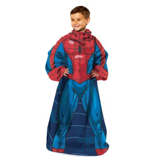IFS - Spiderman Blue on Blue Youth Comfy Throw Blanket w/Sleeves