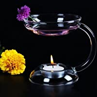 Wonderful Glass Candlestick Candle Holder Oil Burner Warmer Stove Holder