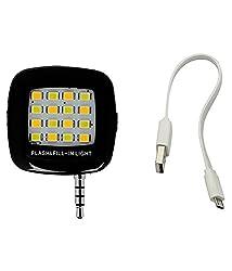 colour blind 16 led Selfie Flash Light White :: 3.5mm pin jack 16 LED flash light