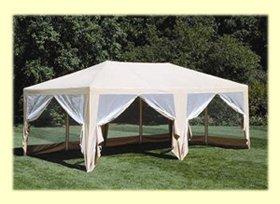 Deluxe Party Tent- 20'x12' Beige