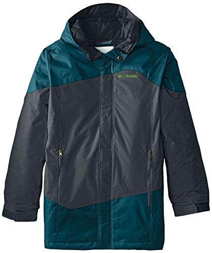 Columbia Big Boys' Snow Stoked Jacket, Deep Wave, Medium