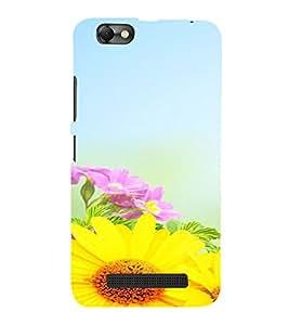 PrintVisa Flower Design 3D Hard Polycarbonate Designer Back Case Cover for LENOVO A2020