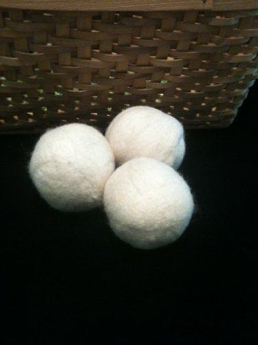 Organic Wool Dryer Ball, Natural, Set of 3