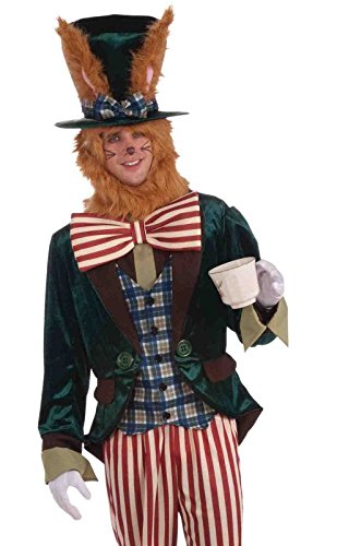 Alice In Wonderland March Hare Bunny Rabbit Adult Costume Men Women Animal Std