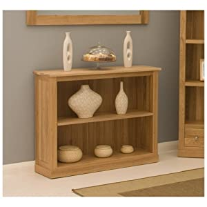 Conran Solid Oak Furniture Small Low Office Bookcase Kitchen Home