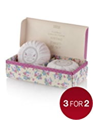 Floral Collection Vintage Forget-Me-Not Soap Duo