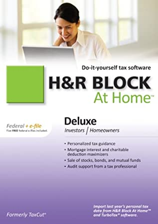H&R Block At Home 2010 Deluxe Federal + eFile [Download] [OLD VERSION]