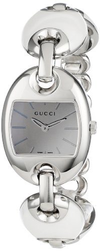 Gucci Women's YA121515 Marina Chain Small White Ceramic and Steel Bracelet Watch