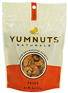 Yumnuts Dry Roasted Spicy Cajun Cashews 5 oz. (Pack of 8) from Yumnuts