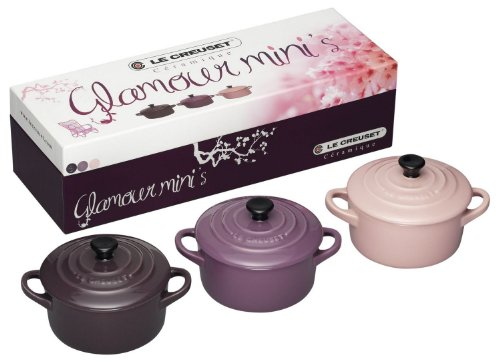 Le Creuset Set of 3 Mini Casserole Dishes Glamour