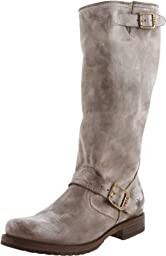 FRYE Women\'s Veronica Slouch Boot, Slate Burnished Antique Leather, 6.5 M US