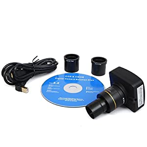 Variscope 14.0 MP USB2.0 Microscope Digital Camera and Software, Compatible with Windows XP/Vista/8 and Mac OS 10.6 & Up