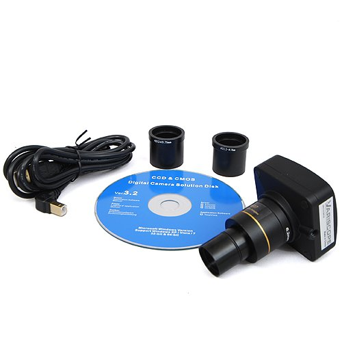 Variscope 5.0 Mp Usb2.0 Microscope Digital Camera And Software, Compatible With Windows Xp/Vista/8 And Mac Os 10.6 & Up
