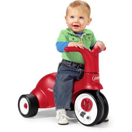 Scoot-2-Pedal-2-in-1-Ride-OnTrike-With-Ergonomically-Contoured-Seat-By-Radio-Flyer