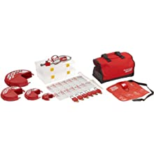 Master Lock Portable Valve Lockout Assortment and Safety Organizer, Includes 6 Zenex Padlocks