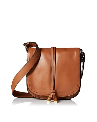 French Connection Women's Danny Leather Crossbody, Nutmeg