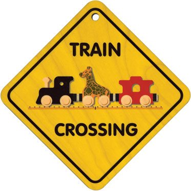 416OcUwjIsL Cheap Price Wooden Train Crossing Sign